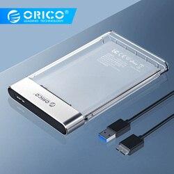 Orico hdd caso novo 2.5 polegada transparente adicionar metal sata para usb 3.0 disco rígido caso ferramenta livre 6 gbps suporte 4 tb uasp caixa hd