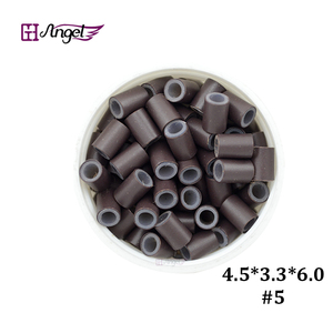 Image 4 - Wholesale 25000pcs 4.5*3.3mm Silicone Copper Hair Extension  tube beads for micro ring hair extension  hair ring