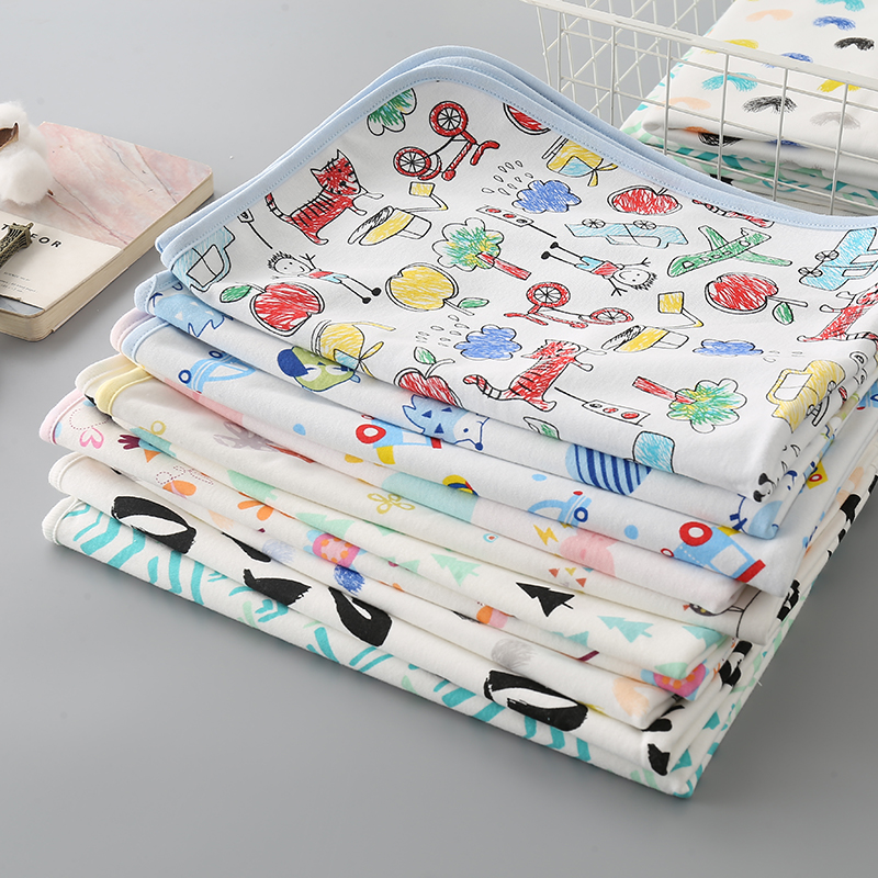 Waterproof Baby Diaper Changing Pad Multi Function Diaper Change Mat For Girls Boys Newborn Changing Pads Cover Size: 70cmx50cm