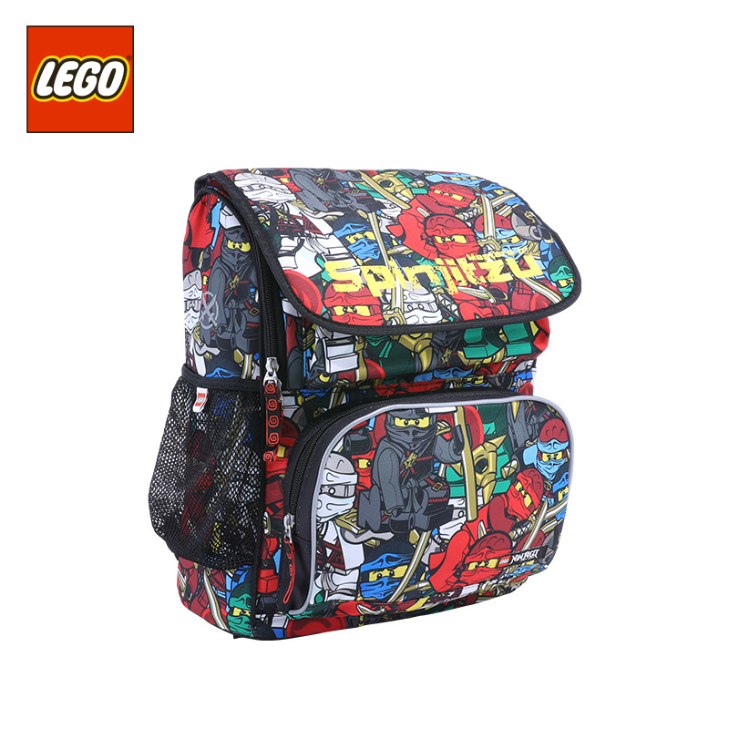 Lego LEGO New Style Backpack Young STUDENT'S 16 Grade Lightweight Fashion Cartoon Bag 20069