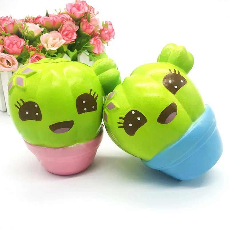 Забавный кактус Ароматические сжимаемые целебные мягкие игрушки для снятия стресса мягкий брелок для телефона подарок декоративные украшения ручной работы