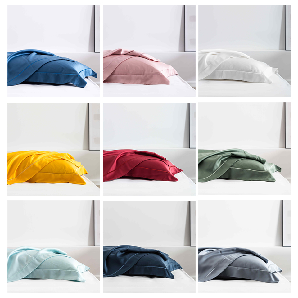 Slowdream 2019 Wholesale Luxury Black 100% Nature Mulberry Satin Silk Pillowcase Queen King Multicolor Health Silky Pillow Case