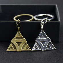 Game Jewelry Fifth Personality Identity V Keychain Triangle Shape Engraved Number for Mens and Womens Gifts