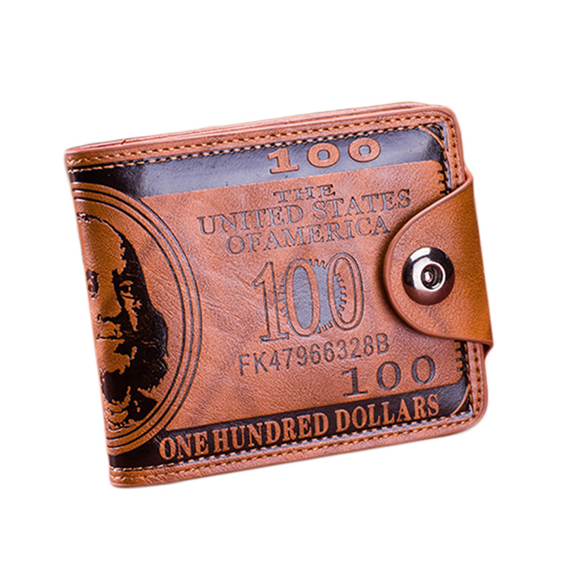 Brand Leather Men Wallet Dollar Price Wallet Casual Clutch Money Purse Bag Credit Card Holder Fashion 2020 New