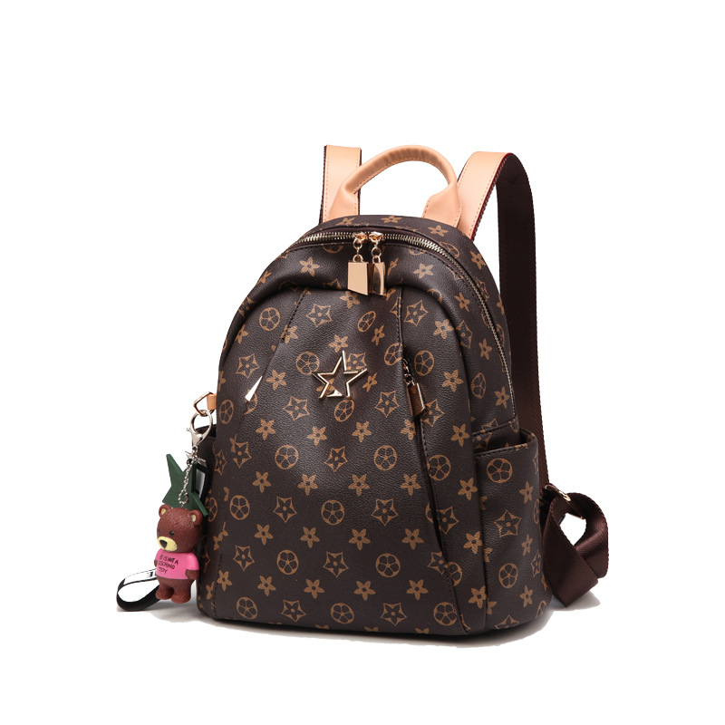 New Style Backpack Women's 2018 Casual Versatile Fashion Backpack Printed Simple Hand Shoulder Dual Purpose Travel Bag