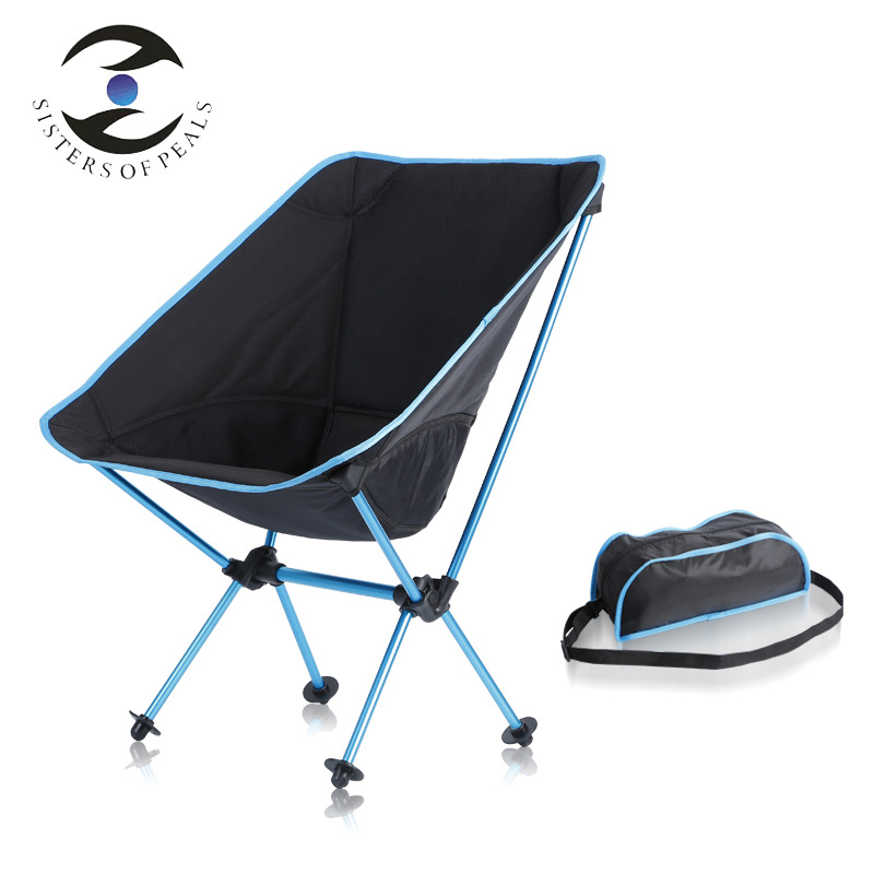 Winter New Style Thick Aluminium Alloy Ultra-Light Folding Chair Short Moon Chair Outdoor Backrest Oxford Cloth Chair