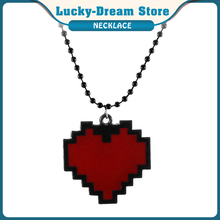 Anime Pixel Heart Necklace Red Color - Undertale Cosplay of Frisk - 24 Cartoon Classics Movie Jewelry Cosplay Chic Chain Unisex