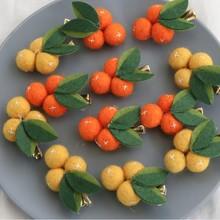 Sweet Girls Cute Hair Clips Fruit Orange Design Pin Baby Children Hairpin Princess Clip Hairgrips Accessories