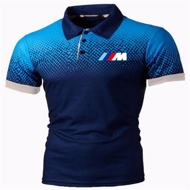 New Summer Men Brand Clothing printing BMW M Men Business fashion Casual Male Polo Shirt Short Sleeve Breathable Soft Polo Shirt 5