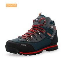 Мужские высокие осенне-зимние походные ботинки из коровьей замши водонепроницаемые горные уличные кроссовки амортизирующие спортивные ботинки для мужчин