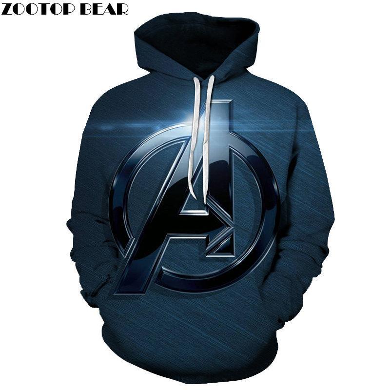 A Badge 3D Printed The Avengers 4 Men Hoody Marvel Pullover Tracksuit Spring Hoodies Streatwear 6XL Avengers Endgame ZOOTOPBEAR
