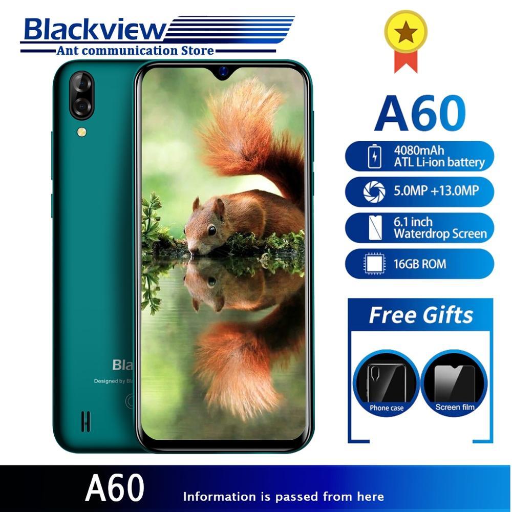 Смартфон Blackview A60 4080 мАч Android 8,1 6,1 дюймов 19,2: 9 экран 13.0MP двойная задняя камера 3g мобильный телефон 1 Гб + 16 Гб четырехъядерный
