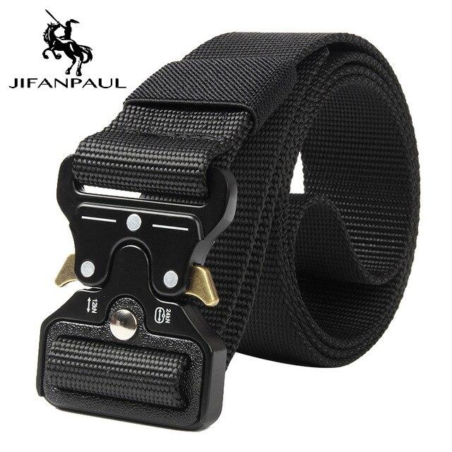 JIFANPAUL бренд подлинный мужской модный кожаный ремень сплав Материал Пряжка Бизнес Ретро Мужские джинсы дикие ремни высокого качества - Цвет: KKKK Black