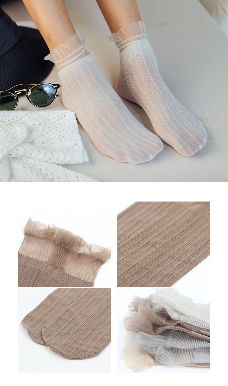 H519c0cd5be0d42cd8298c0f84356d89e9 - Transparent Lace Thin Ladies Socks Sweet Velvet Sexy Japanese Summer Women Long Socks Female Dress Hosiery New Fashion Striped