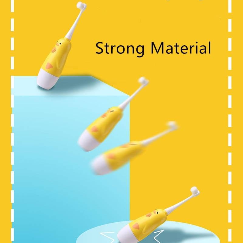 Children Cartoon B.Duck Battery Electric Toothbrush Sonic Soft Bristles Toothbrush Baby Timer Waterproof Automatic Brush