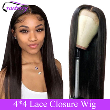 Cranberry Hair 4X4 Closure Wig 100% Remy Hair Brazilian Wig