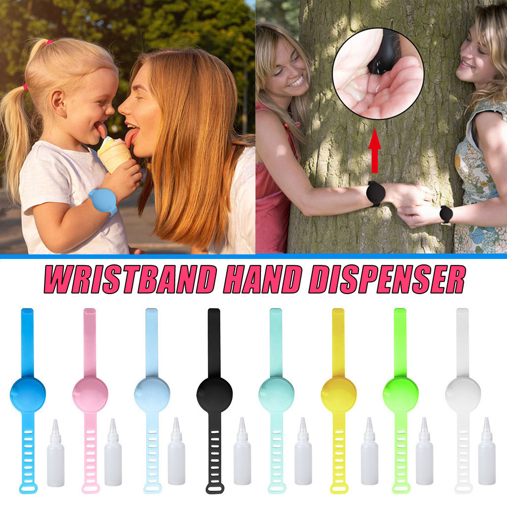 Wristband Hand Dispenser Handwash Hand Sanitizer Dispensing Portable Bracelet Wristband Hand Dispenser Belt Buckle Wholesale new