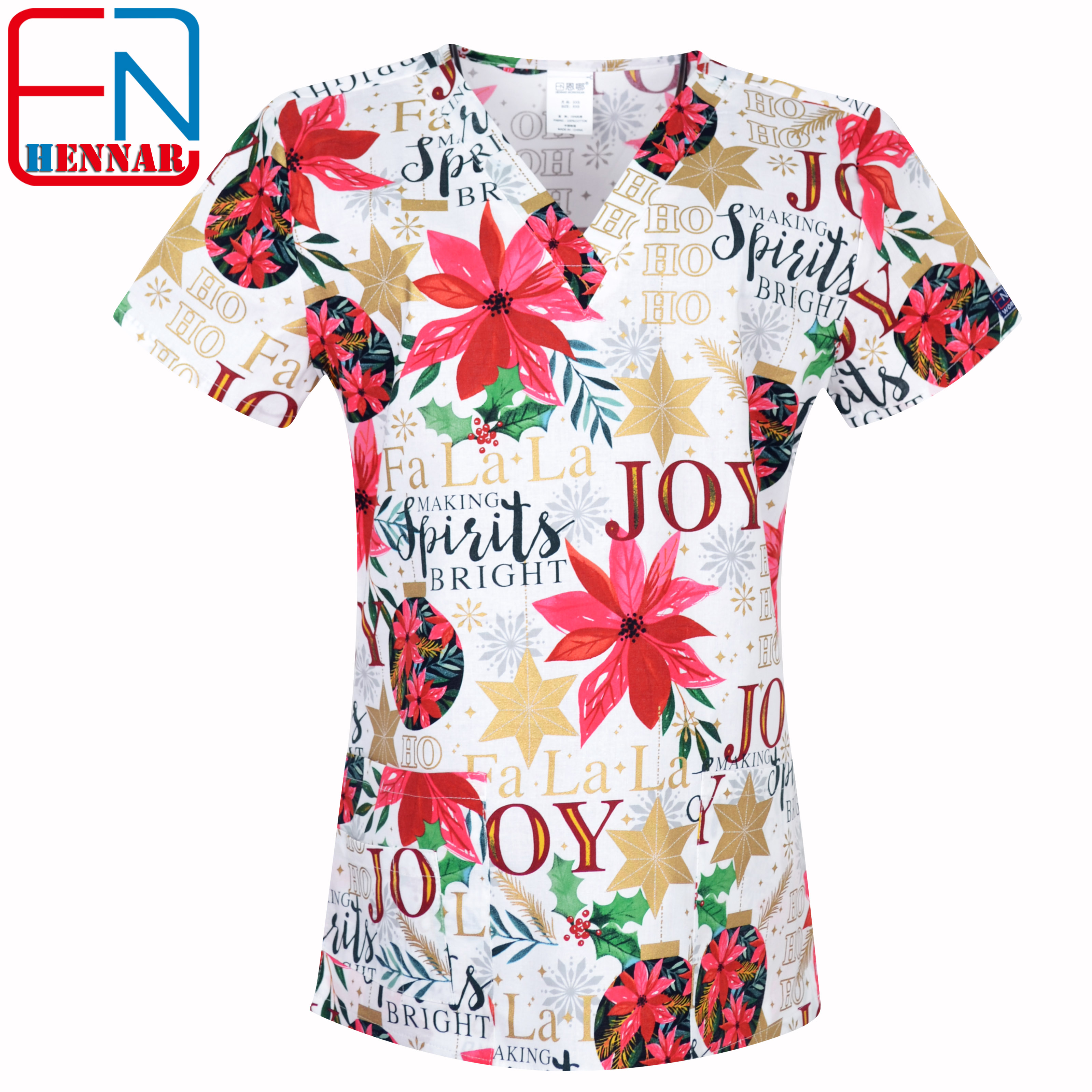 Image 5 - Hennar Women medical scrub tops in 100% cotton scrubs,women scrub tops,women medical uniforms-in Scrub Tops & Bottoms from Novelty & Special Use