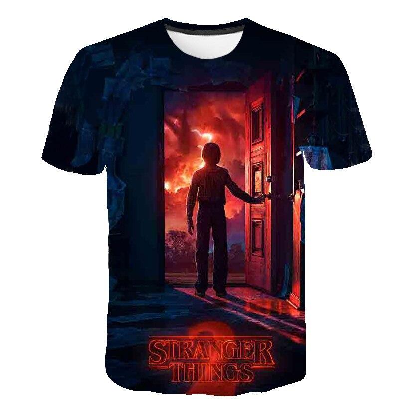 2020 Girls Clothes Summer Cute Stranger Things T-shirt Brand Children's Wear Child Print Boy Clothes Cartoon Camisetas Tees Top