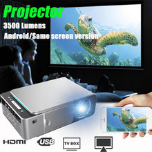 3500 lumens T6 1080P LED Projector 1280x720 Portable projector