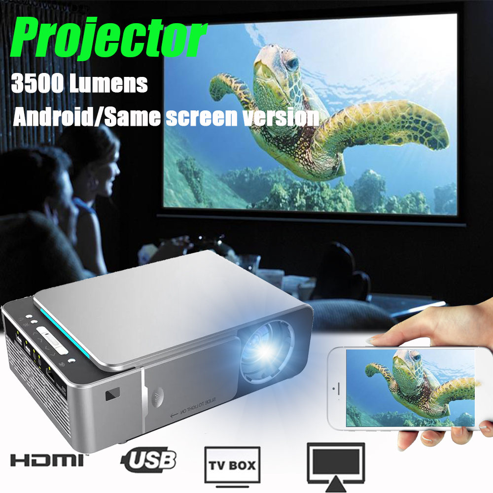 3500 lumens T6 1080P projecteur LED 1280x720 projecteur Portable Android 7.1 USB HDMI VGA AV Home cinéma WIFI 2.4G 5G