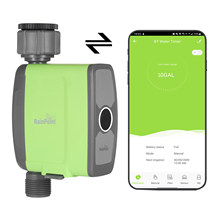 Programmable BT WiFi Water Timer Hose Faucet Timer Outdoor Battery Operated Water Flow Meter Automatic Watering Sprinkler System