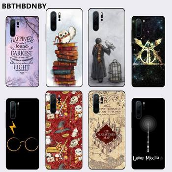 Funda de teléfono suave negra con diseño de historietas de Hogwarts Potter para Huawei P9 P10 P20 P30 Lite 2016 2017 2019 plus pro P smart