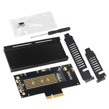 JEYI VolleyStar פרו גוף קירור גוף קירור M.2 עבור NVMe SSD עבור NGFF כדי PCIE X4 מתאם M מפתח יציאת כרטיס PCI E 3.0x4 מלא מהירות