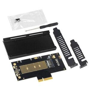 Image 1 - JEYI volleyستار برو بالوعة الحرارة المبرد M.2 ل NVMe SSD ل NGFF إلى PCIE X4 محول م مفتاح بطاقة المنفذ PCI E 3.0x4 سرعة كاملة