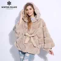 2018 Winter fur coat Fashion new rabblt fur coat Casual rex rabblt fur coat Solid real rex rabblt fur coat O-Neck WINTER PALACE