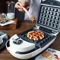 Новый Электрический сэндвич яйцо пузыря вафельный пончик омлет машина для завтрака для домашнего офиса яйцо торт хлеб выпечки тостер