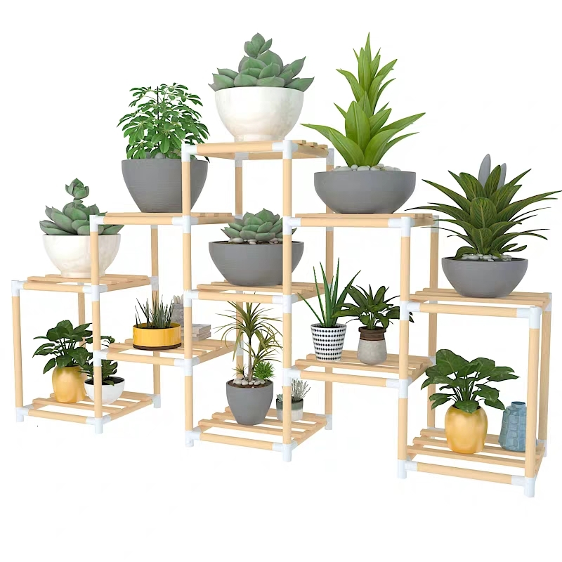 Easy Trapezoid Bedroom Put Frame Green Luo Shi Zhuang Decoration Countryside Potted Plant Frame Indoor A Living Room Frame
