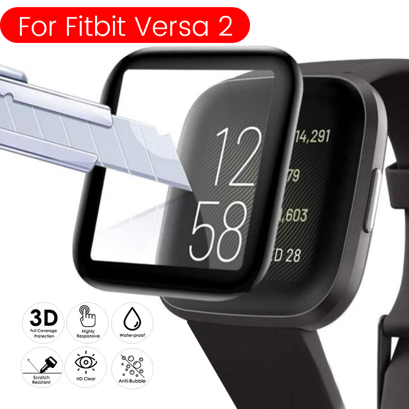 Fibre Protective Glass For Fitbit Versa 2 Full Screen Protector Film For Fit Bit Versa2 Safety Film Cover