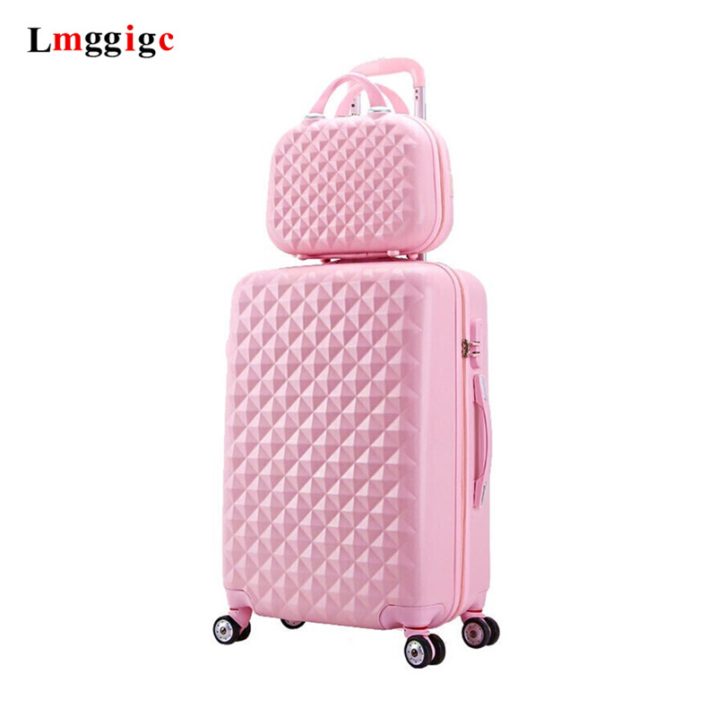 """Men and women boutique luggage set,High quality ABS suitcase,Large 28""""Trolley case,20""""Boarding box,Universal wheel trunk,valise"""