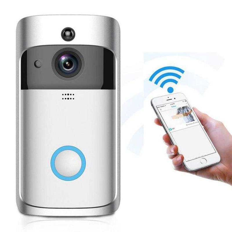 V5 Video Doorbell Smart IP Camera WIFI Wireless Security Door Phone Bell Camera Visual Recording Home Monitor Doorbell LM003
