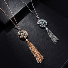 2 стиля Чокеры ожерелье s сплав ожерелье s перо женские ювелирные изделия Длинный Свитер Цепочка Ожерелье