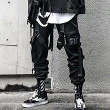 2020 pantaloni jogger Cargo per uomo Casual Hip Hop Hit Color tasca pantaloni maschili pantaloni sportivi nastri Streetwear pantaloni Techwear