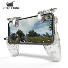 DATA FROG Game Controller Gamepad For PUBG L1R1 Shooter Trigger Fire Button Gamepad Joystick For iPhone Android Mobile Phone shooter controller joystick for pubg mobile control for ipad tablet cell phone gamepad trigger fire button l1r1 for ios android