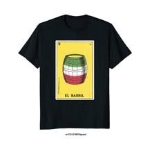 Camiseta de tarô da bandeira mexicana do barril da camisa da loteria