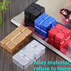 Stress Relief Toy Premium Metal Infinity Cube Portable Decompresses Relax Toys for Children Adults tangle fidget toy autism adhd