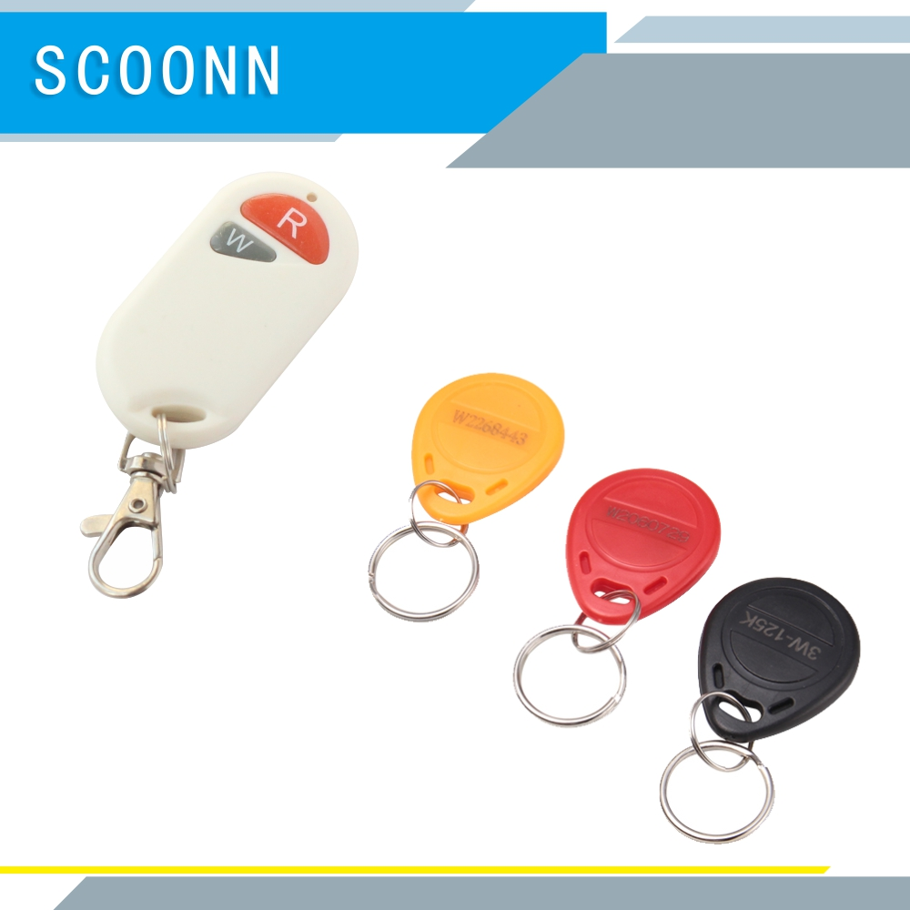 3Pcs Tags + 1pcs Mini Rfid Card Reader Rfid Writer 125KHz Card Reader Writer Copier Duplicator With Cards/Tags Kit