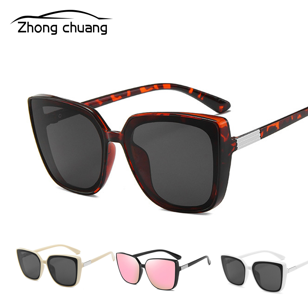 2019 New Fashion Square Sunglasses Sunglasses Personalized Glasses Cat Eye Sunglasses(China)