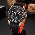 2019LIGE Novo Mens Relógios Pulseira De Silicone Relógio de Quartzo dos homens Top Marca de Luxo Data Relógio À Prova D' Água Relógio de Pulso Relogio masculino