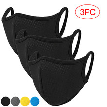 3pc Unisex Facemask Cotton Protection Mascarillas Reusable Outdoors Sports Mondkapjes Face Cover Face Maskswashable And Reusable cheap Adult Casual Adjustable facemasks reuseable One Size Solid maske mondmasker disposable facemask