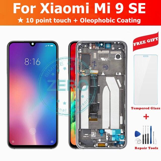 Xiaomi mi 9 se lcd ディスプレイとフレーム 10 点タッチ amoled スクリーン Mi9SE ため Mi9 se 液晶デジタイザ交換部品