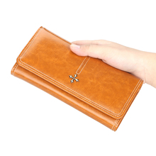New Women's Long Wallet Korean Multi-Card Leather Storage Wallet Fashionable Wild Purse
