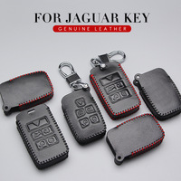 Genuine Leather Car Key Cover Case For Jaguar F Type XF XJ X Type XE F Pace For Land Rover Key Ring Protection Shell Accessories|Key Case for Car| |  -