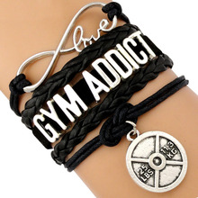 Fit Mom Spinning Gym Addict Kayla Movement Aerobic Training Weight Lifting Protein BBG Coaches Fitness Trainer Crossfit Bracelet aerobic fitness chart hits 3 cd
