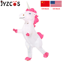 JYZCOS Inflatable Unicorn Costume Halloween Party Costume for Women Christmas Purim Cosplay Mascot Costume for Adult Kid