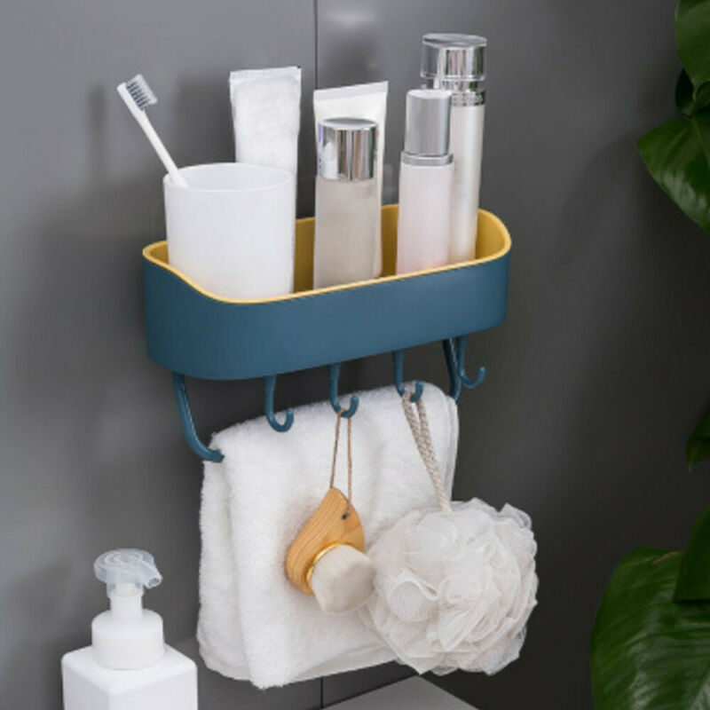 Bathroom Corner Storage Shower Rack Shelf Organiser Traceless Bathroom Basket Holder Organizer With Suction Shower Shelf